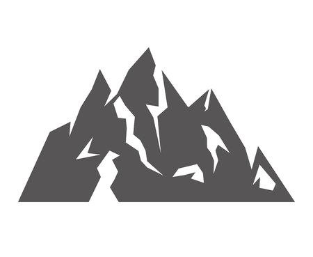 ice mountain: Ice Mountain isolated icon vector illustration design Illustration
