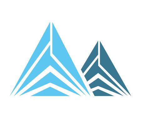 winter range: Ice Mountain isolated icon vector illustration design Illustration