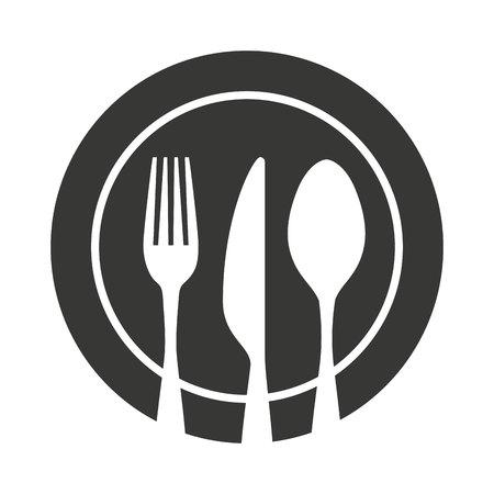 cubertería utensilios de cocina herramienta icónico ilustración vectorial de diseño