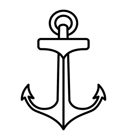 anchor drawing: anchor drawing tattoo style isolated icon vector illustration design
