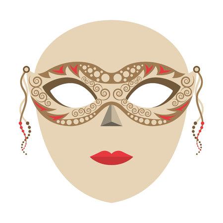venetian: venetian mask isolated icon vector illustration design