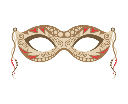 venetian mask: venetian mask isolated icon vector illustration design