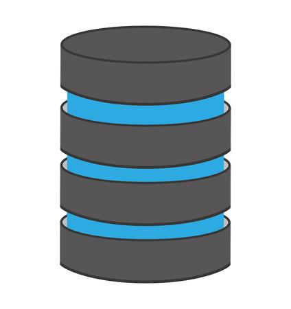 Almacenamiento de datos aislados icono del vector aislado gráfico Foto de archivo - 61396033