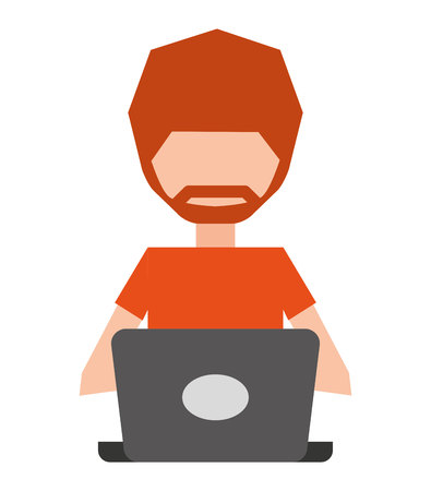 laptop isolated: user computer laptop isolated vector illustration design Illustration