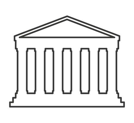 architectural styles: roman construction classic isolated icon vector illustration design Illustration
