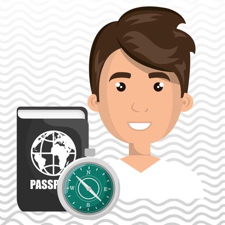 man password id travel vector illustration Illustration