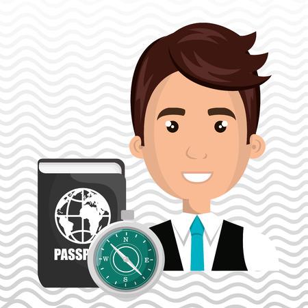 man password id travel vector illustration Stock Photo