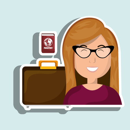 femme valise: Lieu de Voyage valise femme