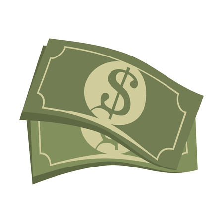paper currency: bill money cash economy financial fortune rich bank vector illustration Illustration