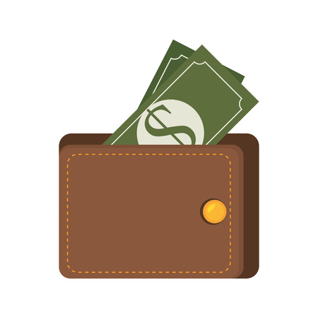 money wallet: bill money wallet cash economy financial fortune rich bank vector illustration