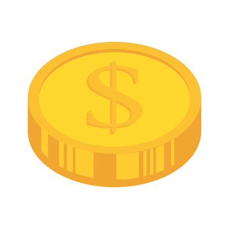 earn money: coins money gold  business economy earn stack commerce vector illustration