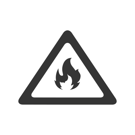 burnable: fire flame flammable warning danger safety vector illustration