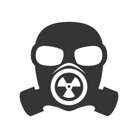 defense: gas mask nuclear biological toxic defense protection vector illustration