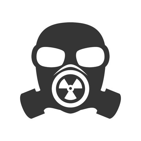 máscara de gas tóxico de protección de defensa ilustración vectorial biológica nuclear