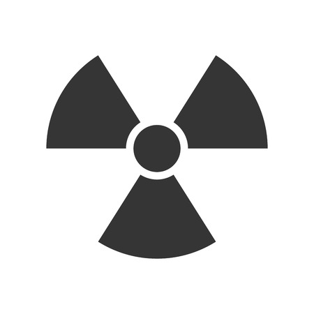 radioisotope: nuclear radiation toxic  precaution sign warning reactor illustration