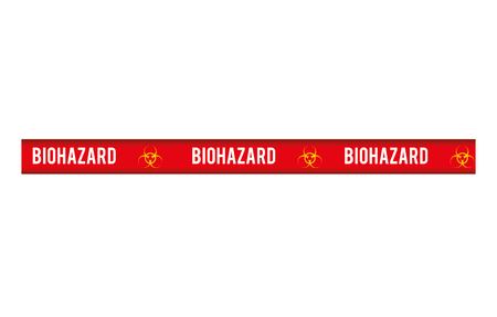 warning tape: tape biohazard dont cross security warning precaution restricted safety vector illustration