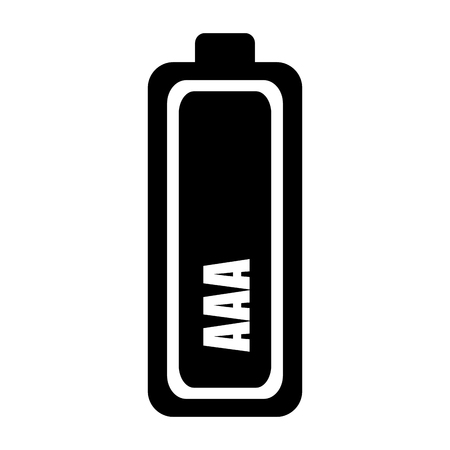 alkaline: battery alkaline object energy power electricity vector illustration Illustration