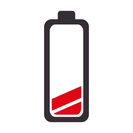 niskie zużycie energii baterii ilustracji wektorowych ładunek elektryczny zasilający Ilustracje wektorowe