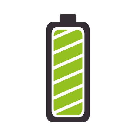 Bateria pełna poziom mocy energii opłata ilustracji wektorowych bar Ilustracje wektorowe