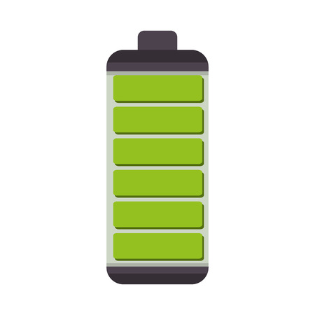 charge: battery complete charge energy power level bar vector illustration Illustration