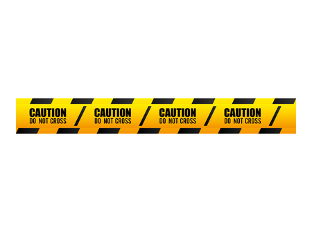 precaution: tape dont cross security warning precaution restricted safety vector illustration