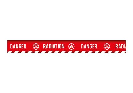 precaution: tape radiation dont cross security warning precaution restricted safety vector illustration Illustration