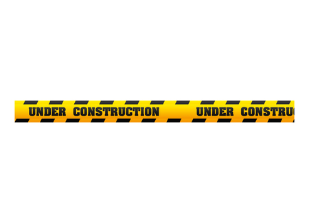 dont: tape under construction dont cross security warning precaution restricted safety vector illustration