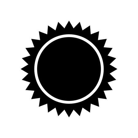 ray of light: sun light hot natural sign heat ray silhouette vector illustration Illustration