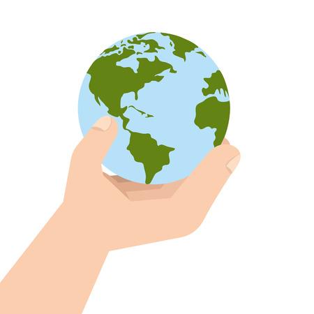 enviroment: planet ecology hand  enviroment world global nature green vector illustration