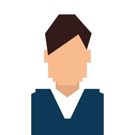 the human face: man guy boy person face head human icon vector illustration Illustration