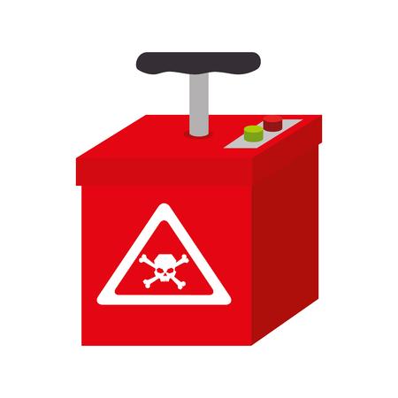 tnt: tnt explosion explode bomb box hand dynamite vector illustration Illustration