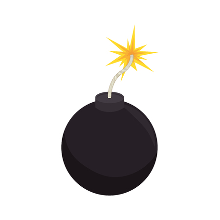 detonate: bomb boom explotion explosive detonate spark ball vector illustration Illustration