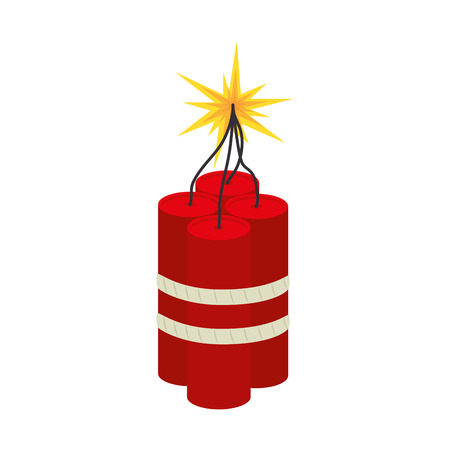 tnt: tnt explode dynamite explosion bomb danger vector illustration Illustration