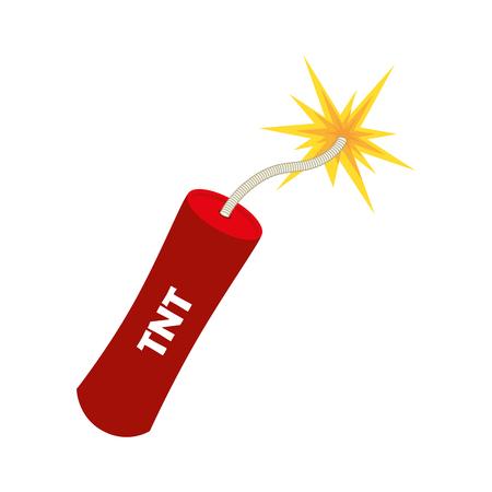 dinamita: TNT explotar ilustración vectorial peligro explosión de una bomba de dinamita