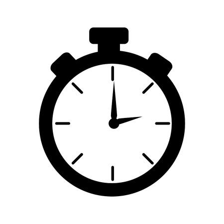 chronometer: chronometer device time countdown counter button training vector illustration Illustration