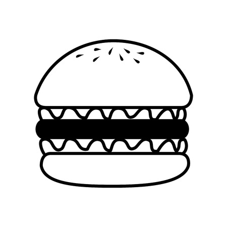 tasty: hamburger fast food american burger deliveryfood tasty vector illustration