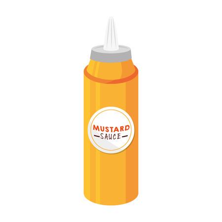 ingredient: mustard sauce flavor food ingredient tasty product vector illustration