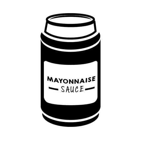 appetizer: mayonnaise sauce appetizer product flavor mayo vector illustration