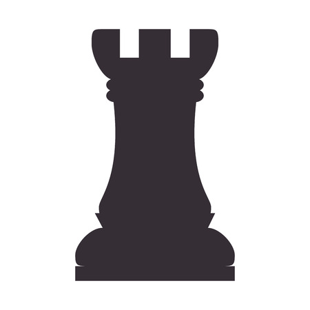 chessboard: chess piece game win rook chessboard strategy vector illustration Illustration