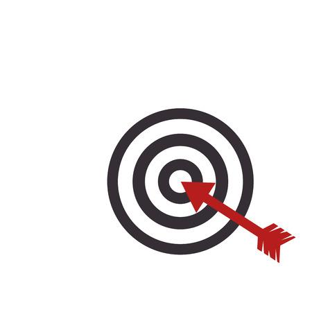 target arrow game center dart dartboard circle vector illustration Illustration