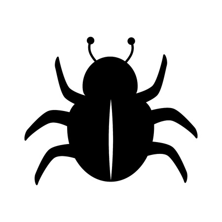 scarab: bug scarab beetle insect animal silhouette vector illustration