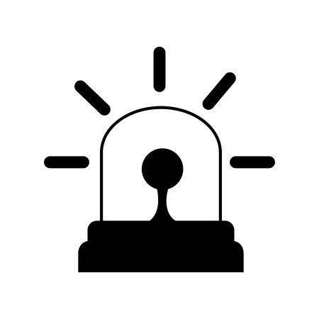 emergency light: siren emergency light lamp bulb urgent alert vector illustration Illustration