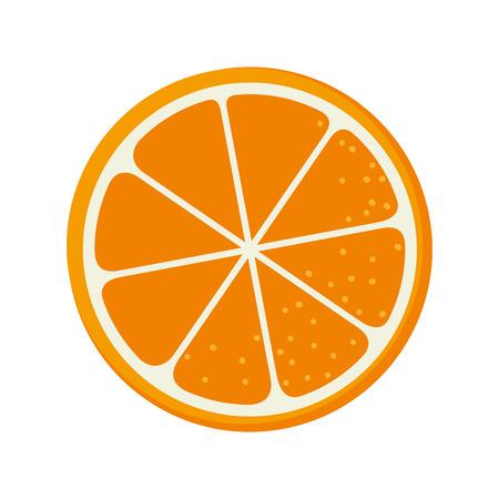 simple cross section: orange fruit food natural organic nutrition nature vector illustration