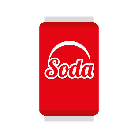 soda can: soda can beverage drink liquid refreshement red vector illustration