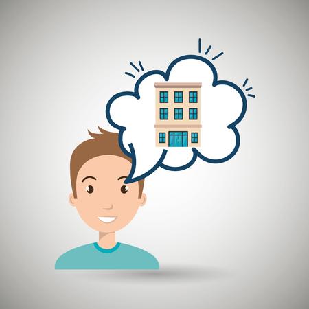 comfortable: woman client hotel icon vector illustration design