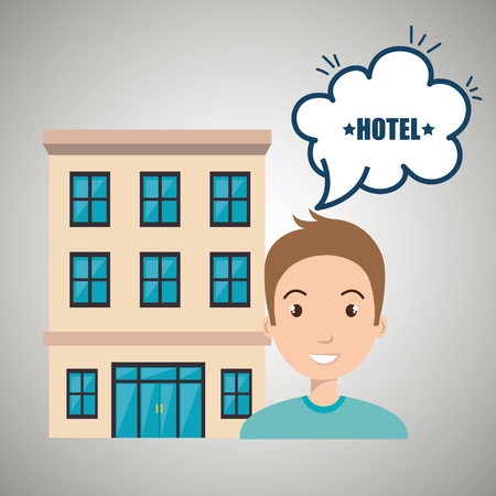 perspectiva lineal: woman client hotel icon vector illustration design