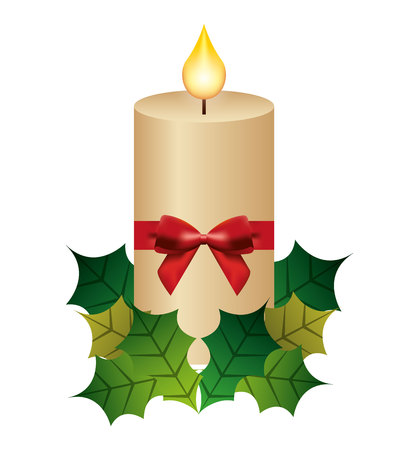 candle flame christmas isolated icon vector illustration design