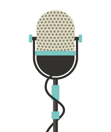 voices: microphone retro isolated icon vector illustration design Illustration