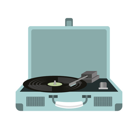 old music player isolated icon vector illustration design Illustration