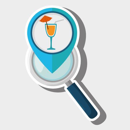 straight pin: search pin travel location vector illustration design